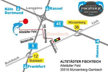 Altstädter Fischteich - Anfahrtsskizze